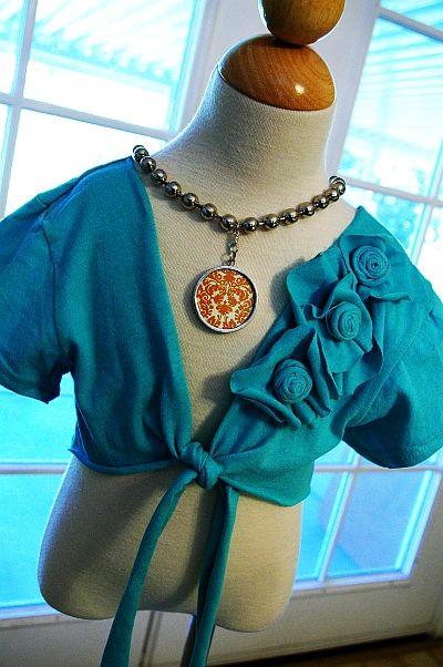 Tshirt Upcycle FREE sewing pattern! DIY bolero pattern // flower trim girls shrug tutorial!