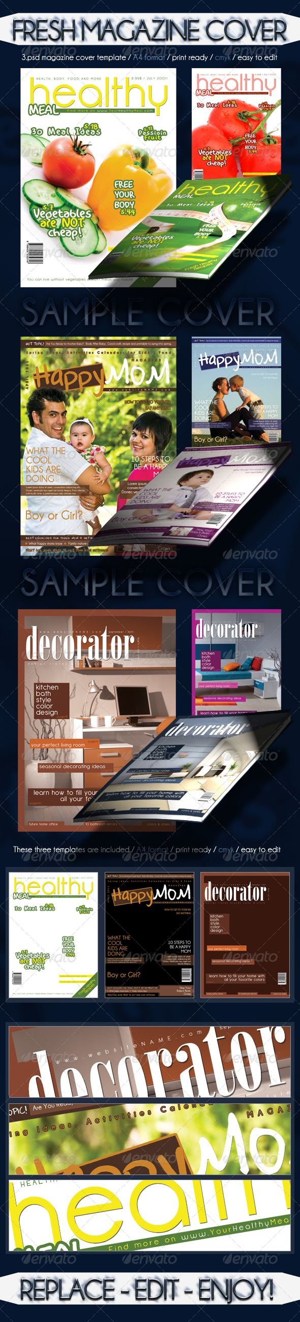 magazine covers template