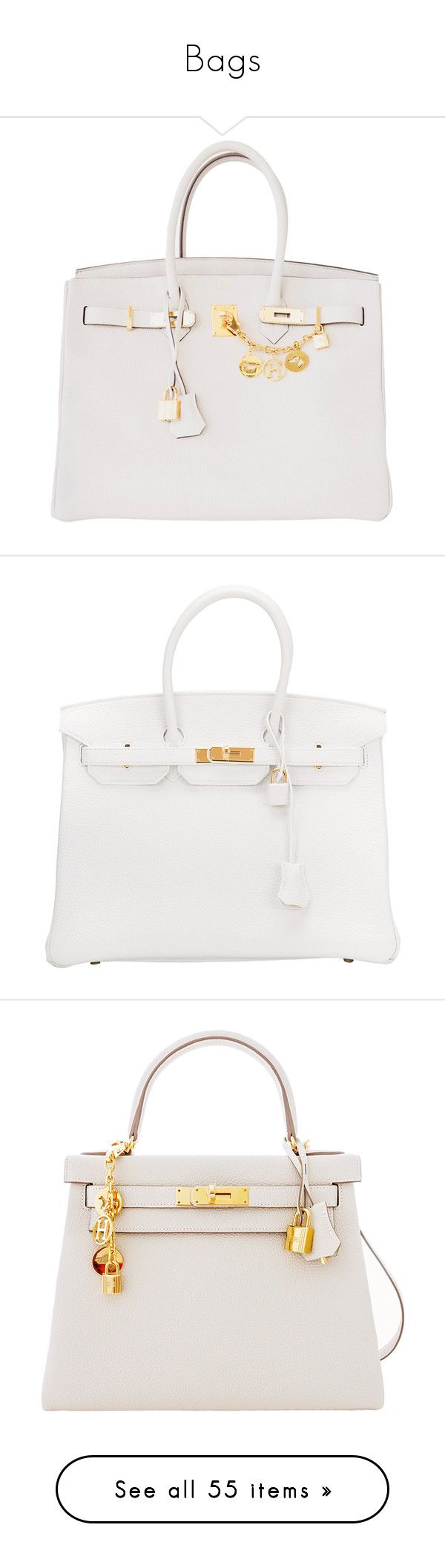 """""""Bags"""" by rubyheartsd on Polyvore featuring bags, handbags, tote bags, craie, hermes handbags, preowned handbags, gold tote handbags, multi colored purses, hermes purse and purses"""