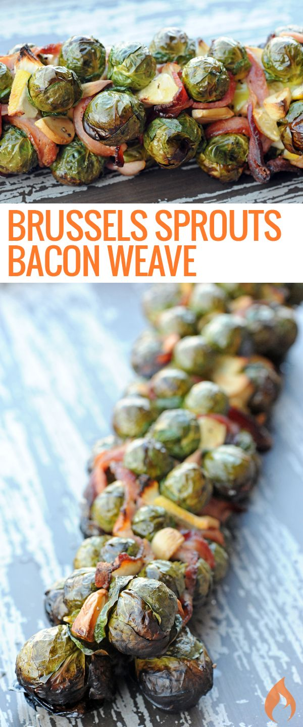 Vegetables shouldn't be boring. This bacon-weaved Brussels sprouts stalk will get you more oohs and aahs than your holiday turkey.