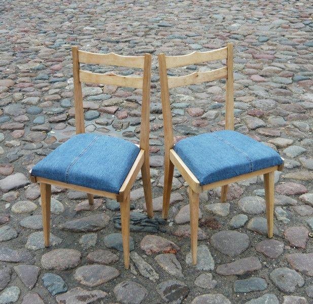 Komplet krzeseł jeans - MMProject - Krzesła