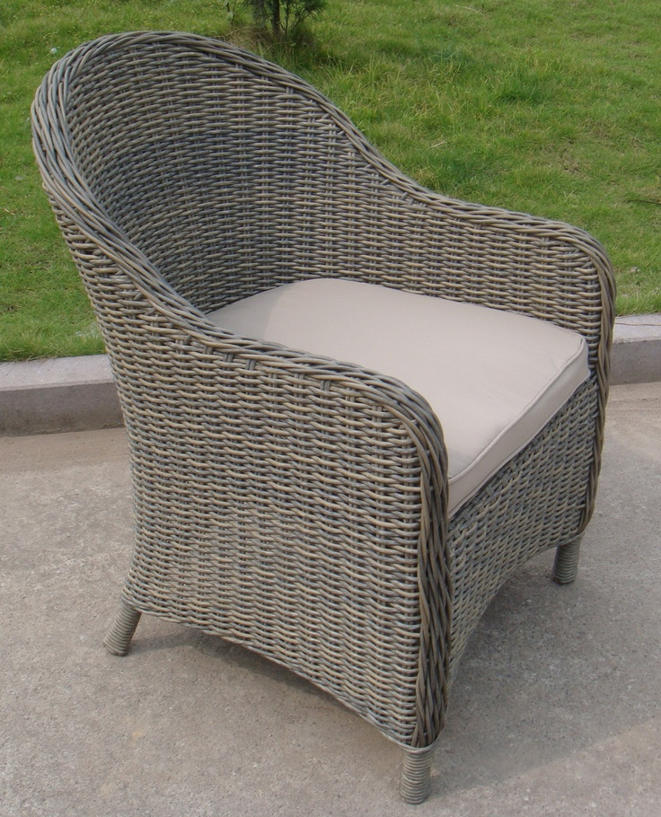 Rounded Wicker Dining Chair Outdoor Wicker Chairs