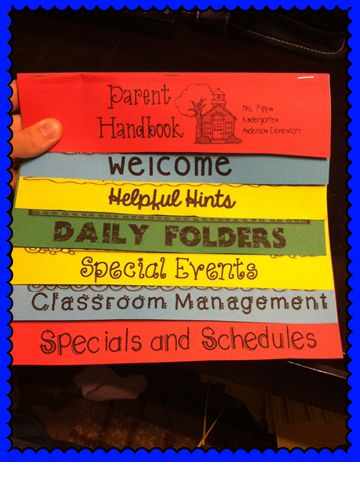 Customizable Parent Handbook - Great to send home at Open house and to keep on hand to give to new students throughout the year.