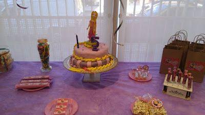 C Y S Candy Bar: Cumple de Rapunzel para Mora!