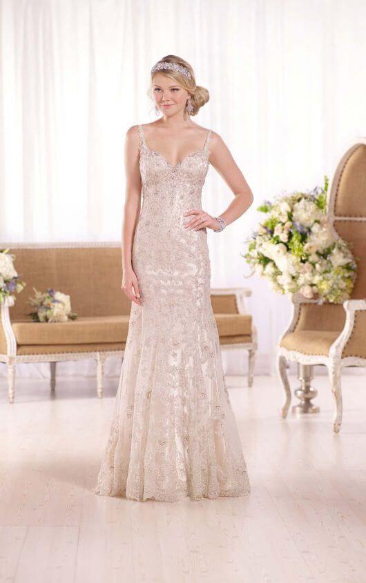 D2079 Designer Lace Wedding Dress by Essense of Australia