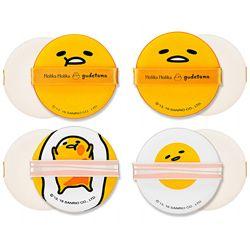 Holika Holika Gudetama Chop Chop Cushion Puff Set 4P - Спонжи Чоп Чоп, набор из 4 шт (фото)