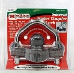 Trimax CL-50 Universal Trailer Coupler Lock - Dual Lock HD - Redline