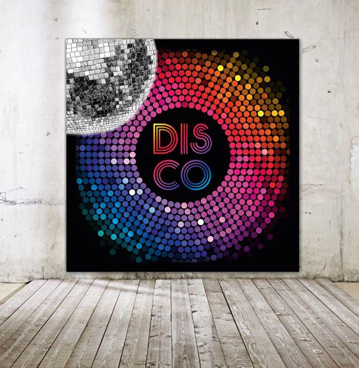 Arrière-Plan pour Photobooth thème DISCO