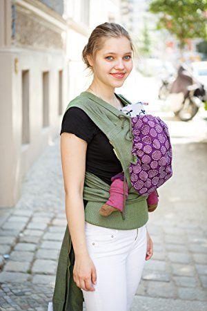 Madame Jordan Babytrage / Rückentrage / Bauchtrage / Hüfttrage Wrap Conversion Mei Tai Mit Gepolstertem Hüftgurt (Grün): Amazon.de: Baby