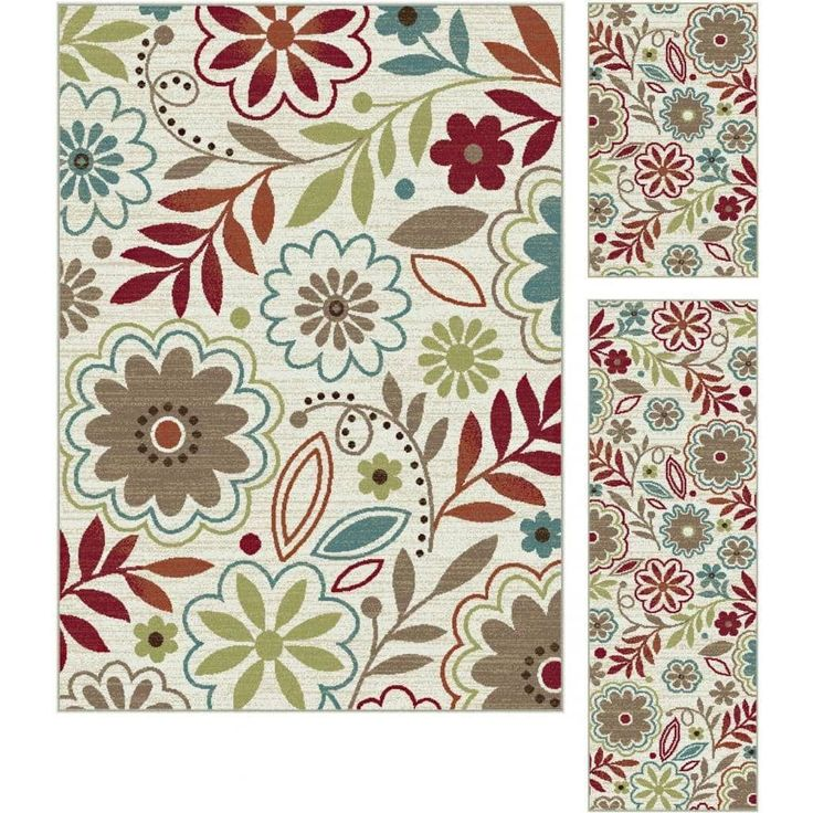 Alise Decora Transitional Area Rug 3 Piece Set