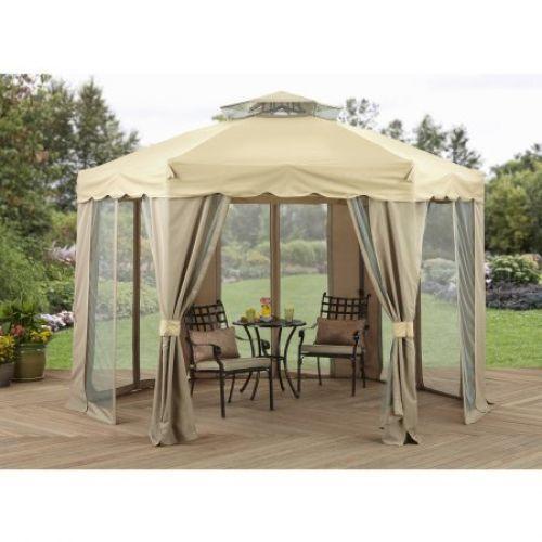 Outdoor Canopy Gazebo 12u0027 X 12u0027 Gilded Grove Tent Wedding Party Patio Home #
