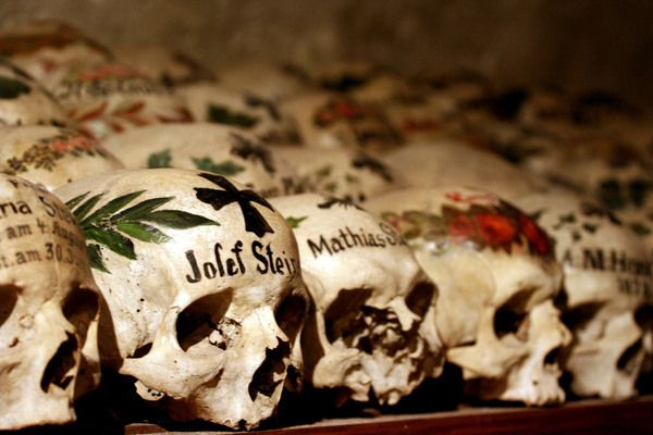 An Austrian house of bones filled with hundreds of intricately painted skulls