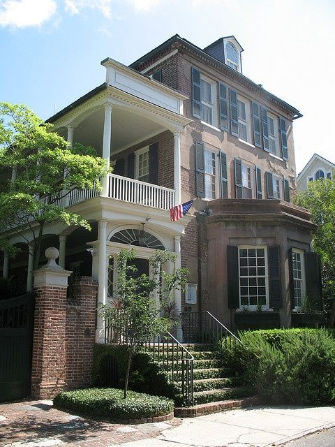 Historical homes in Charleston SC. Home and Lifestyle Design: Tradd Street Charleston SC