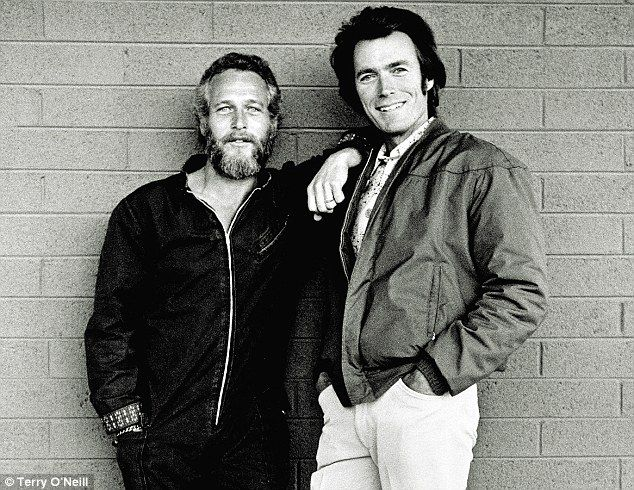 Paul Newman and Clint Eastwood in Tucson, Arizona in 1972