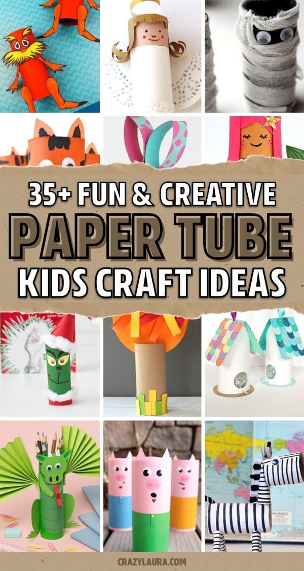 34 Easy Toilet Paper Tube Craft Ideas For Kids Crazy Laura In 2020 Paper Roll Crafts Crafts For Kids Craft Stick Crafts