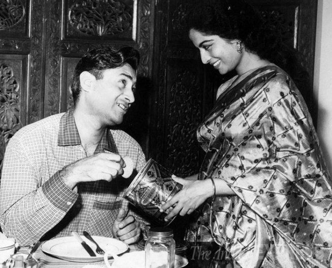 Dev Anand and Kalpana Kartik.