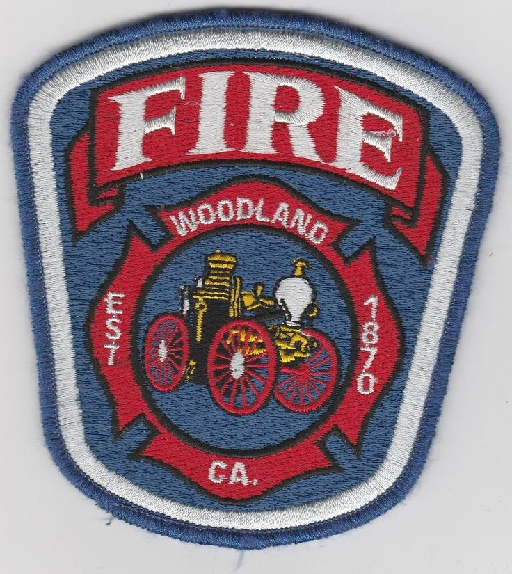 Woodland, California Fire Dept patch CA