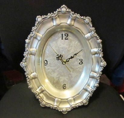 Hey, I found this really awesome Etsy listing at https://www.etsy.com/listing/532897274/vintage-repurposed-silver-clock-birthday