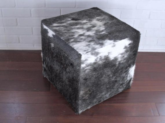 We Are Offering A Very Nice Cowhide Cube Ottoman. This Item Is New, Never Photo