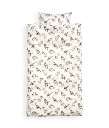 H & M on-line.  My boys would love this dinosaur theme.  It's sized for a kids duvet cover set.  Maybe we could use it for blankets in the living room?  $24.95.