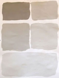 Annie Sloan: This is THE paint to use for the painted French & Swedish and Modern Vintage look on furniture where the paintwork shows a patina of history  Paint: Coco progression