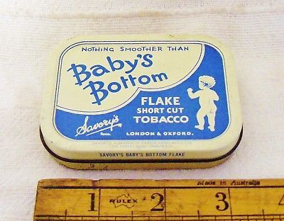 Savory-039-s-BABY-039-S-BOTTOM-FLAKE-1oz-Size-Tobacco-Tin