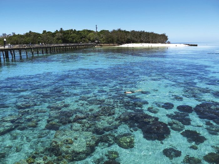 The island paradise of Green Island in the Great Barrier Reef