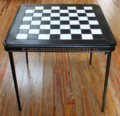 http://www.designsponge.com/2012/07/upholstery-basics-checkerboard-table.html. Reupholster a card table