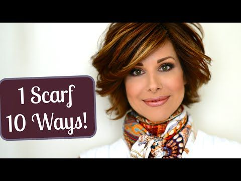 My Top 10 Ways to Tie a Scarf - YouTube  pinned by TheChanelista on Pinterest
