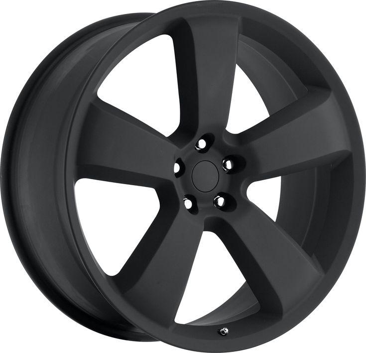 Dodge Charger 2006-2010 20x10 5x115  18 - SRT8 Replica Wheel - Satin Black With Cap