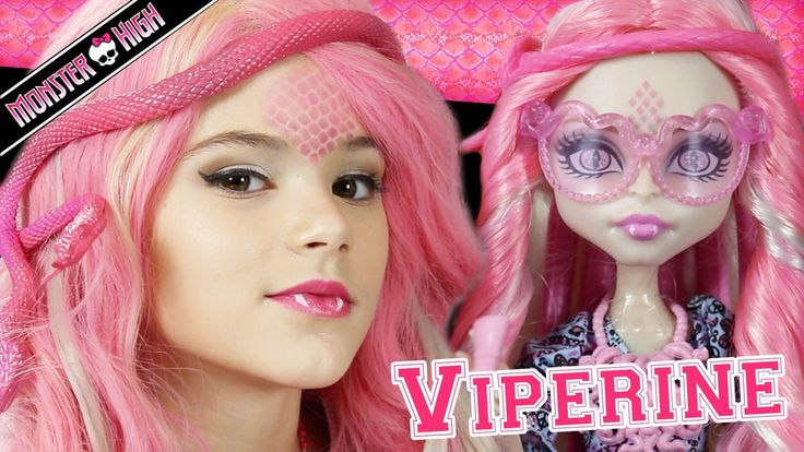 Monster High makeup tutorial on Viperine Gorgon. Little girls could have her makeup done like a pro!