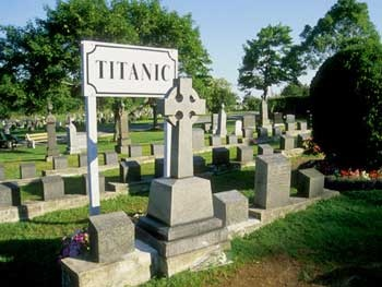 The Titanic section of the Fairview cemetery in Halifax, Nova Scotia.  328 bodies recovered from the Atlantic were buried in three separate cemeteries in Halifax. Fairview contains the largest number of those who were given a final resting place.