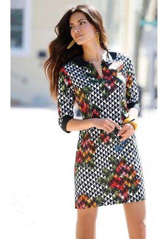 Šaty s originálním potiskem #ModinoCZ #fall #autumn #fashion #colours #autumncolours #trendy #stylish #podzimnimoda #moda #styl