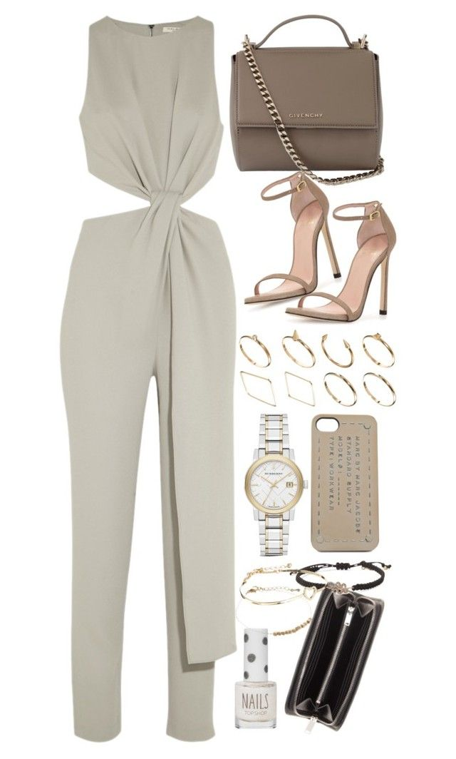 """""""Untitled #7971"""" by nikka-phillips ❤ liked on Polyvore featuring ASOS, Halston Heritage, Givenchy, Stuart Weitzman, Yves Saint Laurent, Burberry, Topshop, Stella & Dot and Marc by Marc Jacobs"""
