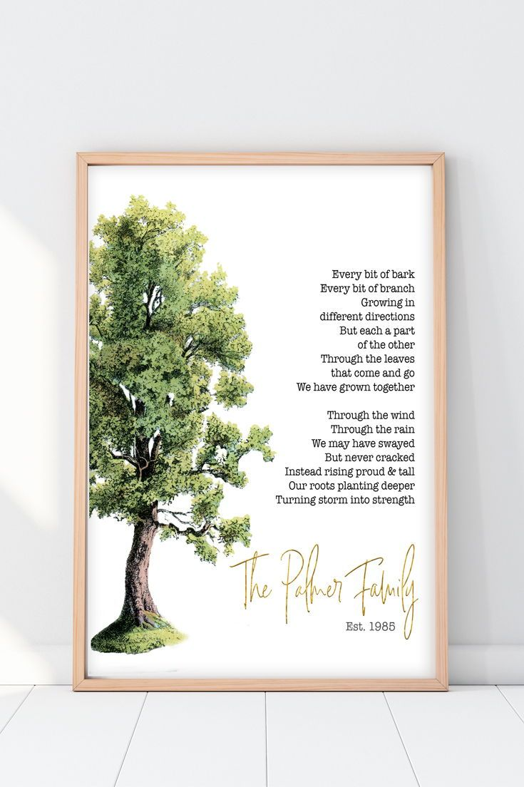 Anniversary Gift For Parents Family Tree Poem Anniversary Gifts For Parents 40th Anniversary Gifts 50th Anniversary Gifts