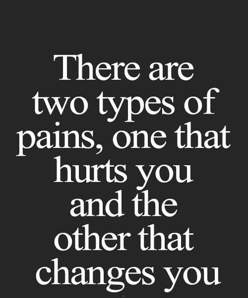 Two tyes of pain in life