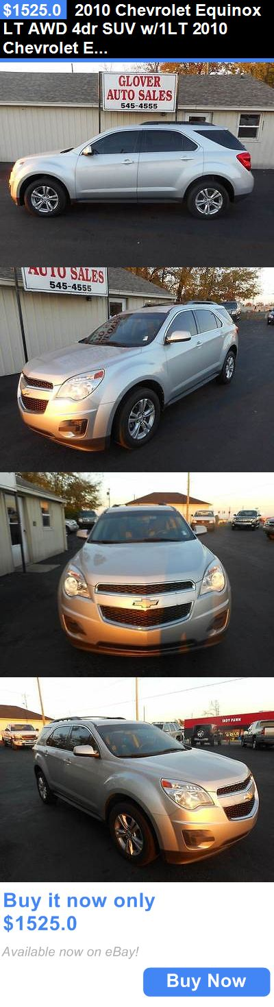 SUVs: 2010 Chevrolet Equinox Lt Awd 4Dr Suv W/1Lt 2010 Chevrolet Equinox Lt Awd 4Dr Suv W/1Lt Silver Suv 2.4L I4 Automatic 6-Speed BUY IT NOW ONLY: $1525.0