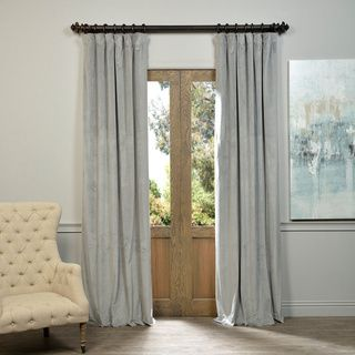 Shop for Exclusive Fabrics Signature Silver Grey Velvet Blackout Curtain Panel. Get free delivery at Overstock.com - Your Online Home Decor…
