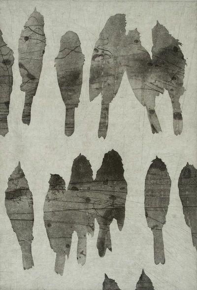 """Chickadees"" - Soft ground and spit bite - Shae Warnick - Artist, Naturalist"