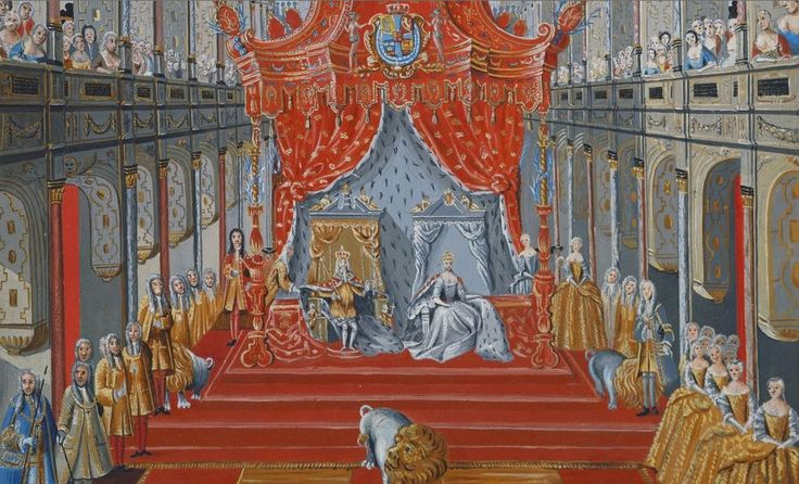 The Coronation of Christian VI, 1731.