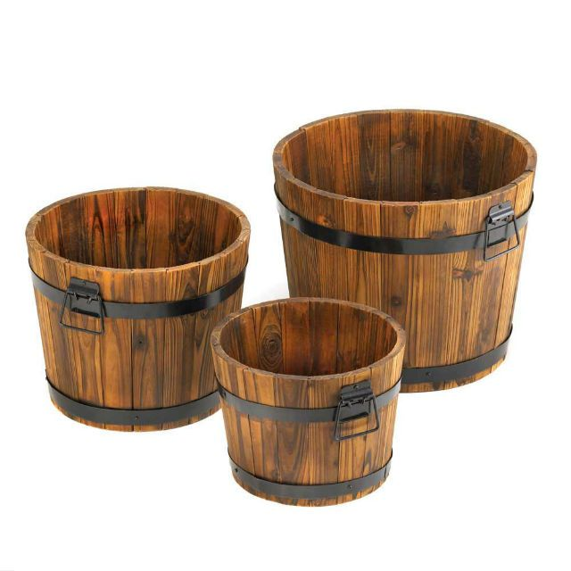 Apple Barrel Planter Trio Apple Barrel Planter Trio,Garden Planters and Indoor Planter,Decor,Novelties at Wholesale Prices [10015114] : Twin Ports, Decor, and Novelties, Decor and Novelties at Wholesale Prices, Decor, and Novelties, at Wholesale, Prices!