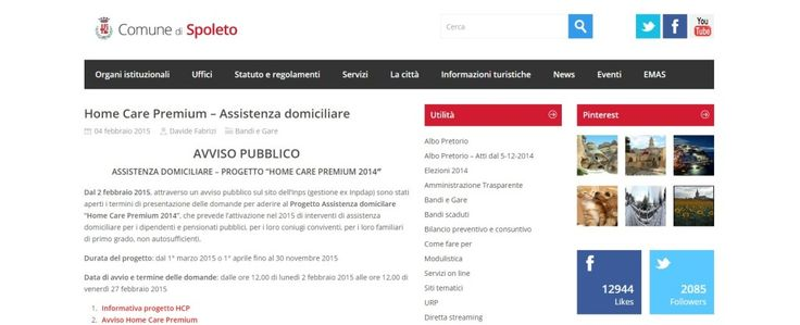 "Assistenza domiciliare, progetto ""Home Care Premium 2014"""