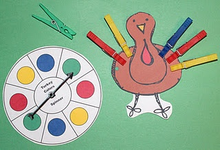 turkey clothespin game and much more on this site