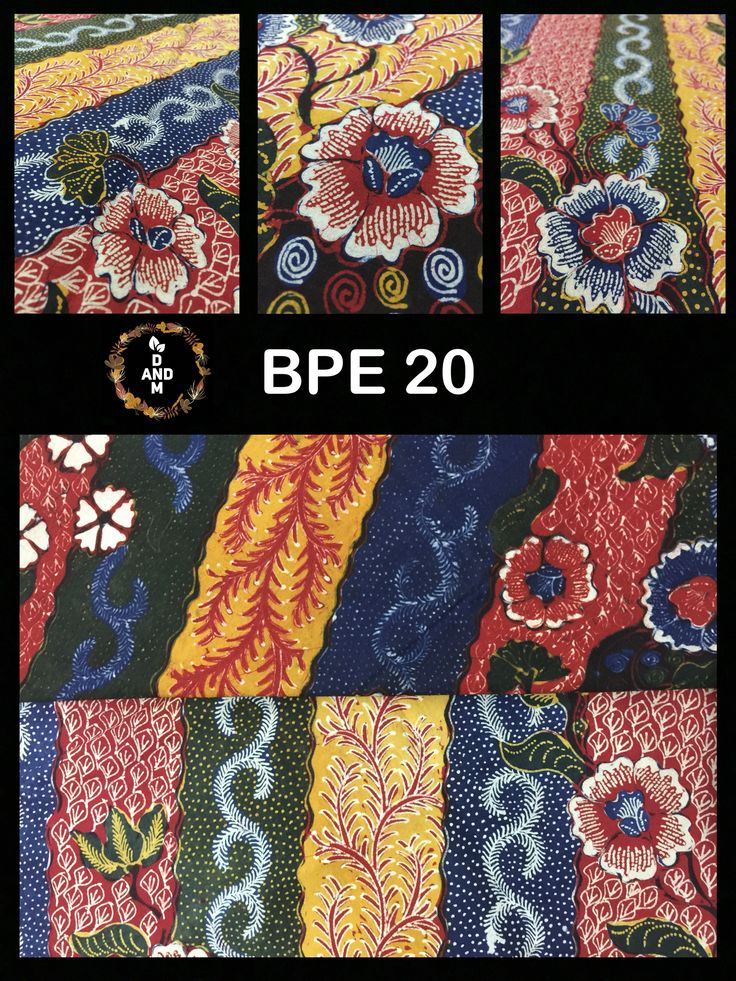 Batik Tulis Tradisional Pophek madura dengan motif bunga dan Kupu-kupu