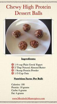Chewy High Protein Dessert Balls