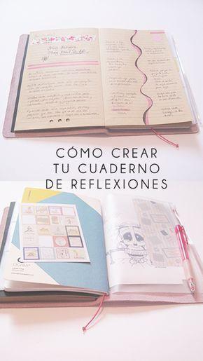 Cómo crear cuadernos de reflexiones personalizados #scrapbook #midori #decorados