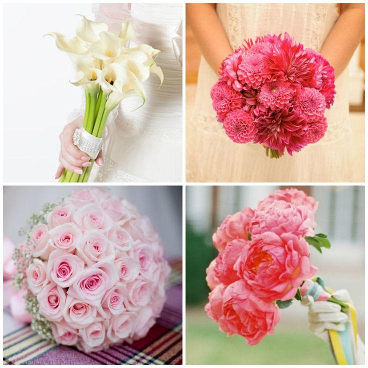Свадебные букеты в одном цвете