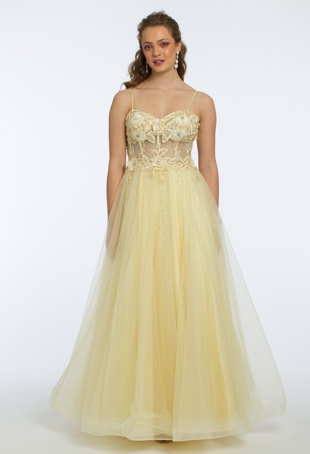4e386a2ddc6 3D Flower Embroidered Corset Ball Gown from Camille La Vie and Group USA