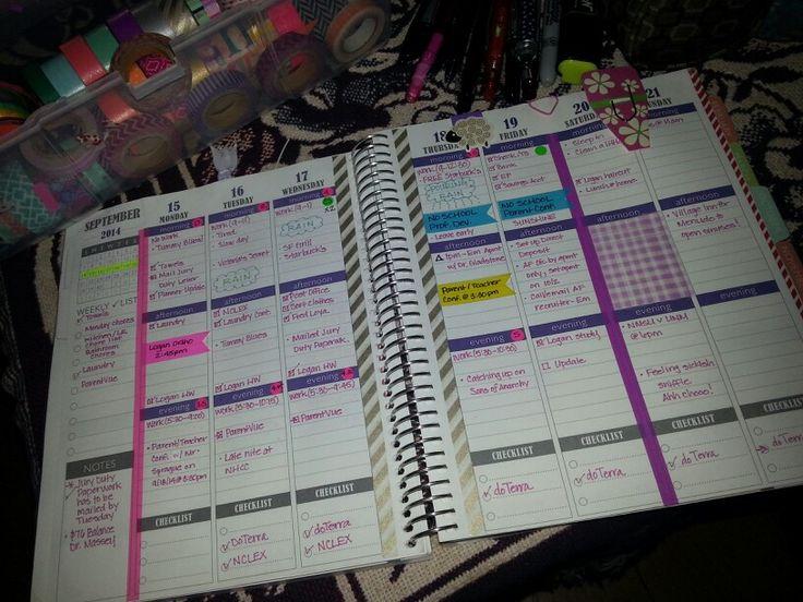 Planning in my Plum Paper Planner