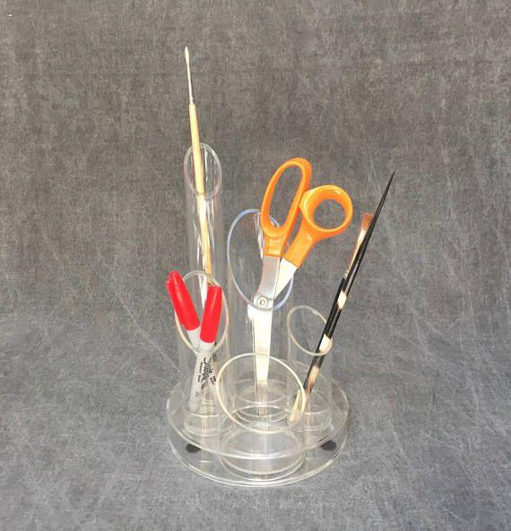70 ' s Lucite transparent plastique Bureau Bureau diviseur